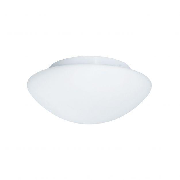 Searchlight Bathroom Flush - plafondlamp badkamer - Ø 28 x 11,5 cm - IP44 - opaal wit