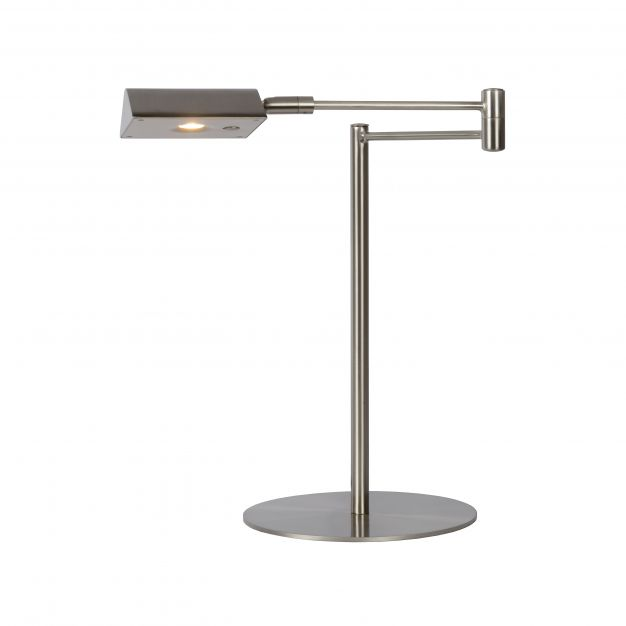 Lucide Nuvola - bureaulamp - 20 x 20 x 38 cm - 9W dimbare LED incl. - satijn chroom