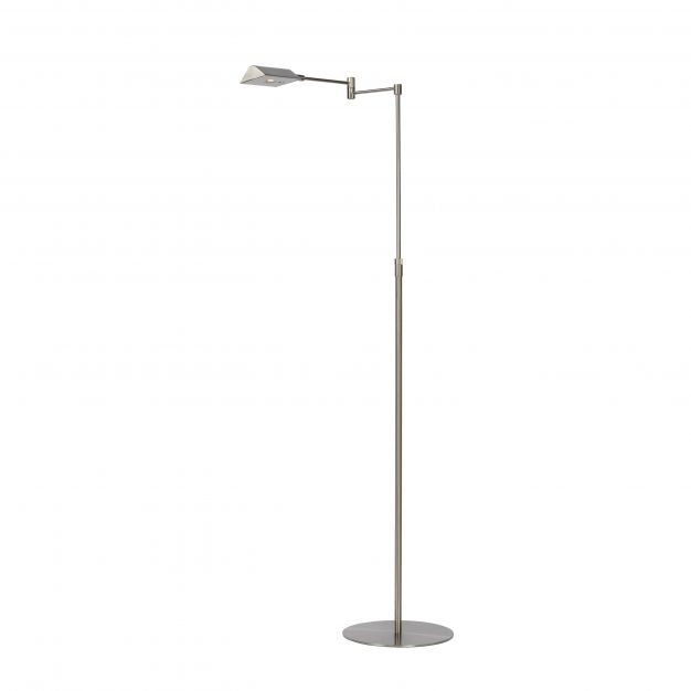 Lucide Nuvola - staanlamp - 126 cm - 9W dimbare LED incl. - satijn chroom