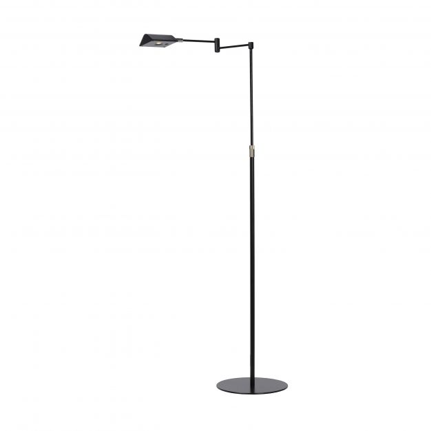 Lucide Nuvola - staanlamp - 126 cm - 9W dimbare LED incl. - zwart
