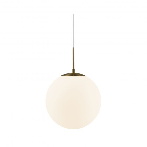Nordlux Grant - hanglamp - Ø 35 x 235 cm - messing en opaal wit