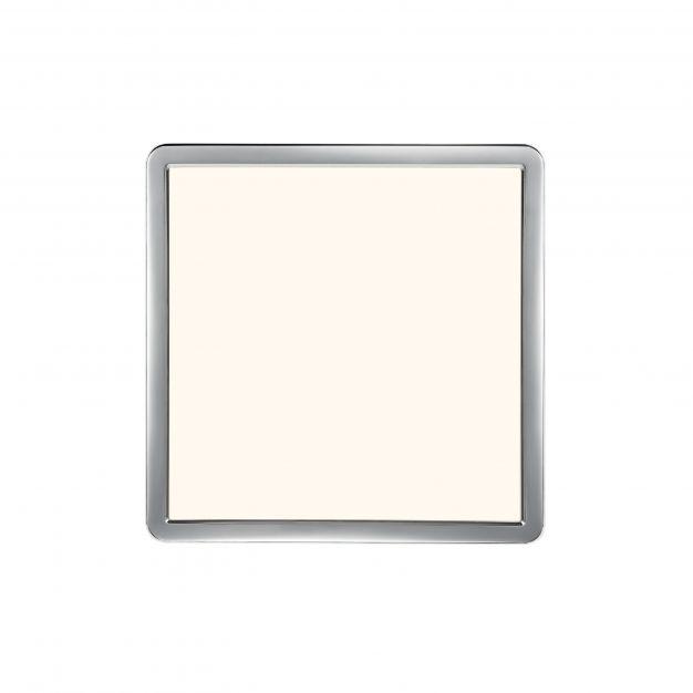 Nordlux Oja - badkamer plafondverlichting - 30 x 30 x 2,5 cm - 3 stappen Moodmaker SceneSelect functie - 14,5W LED incl. - IP54 - chroom/wit