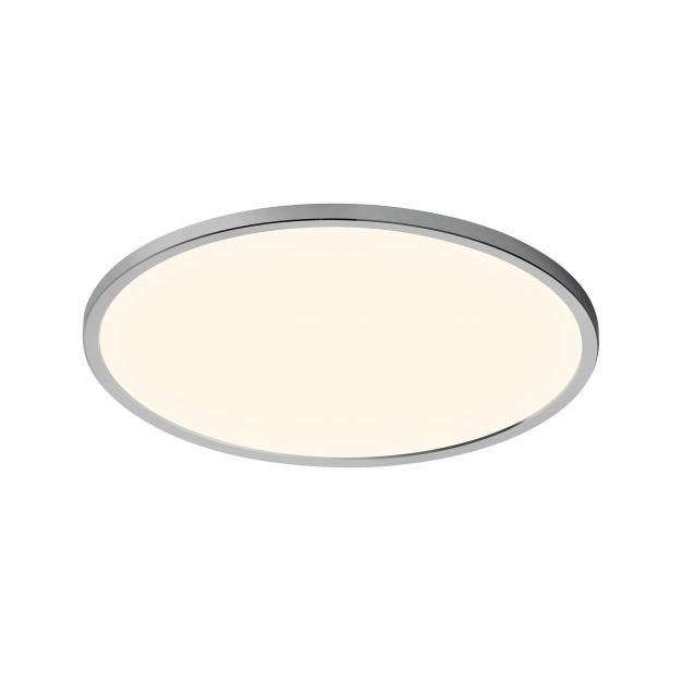 Nordlux Oja - badkamer plafondverlichting - Ø 43 x 2,5 cm - 3 stappen Moodmaker SceneSelect functie - 19W LED incl. - IP54 - chroom