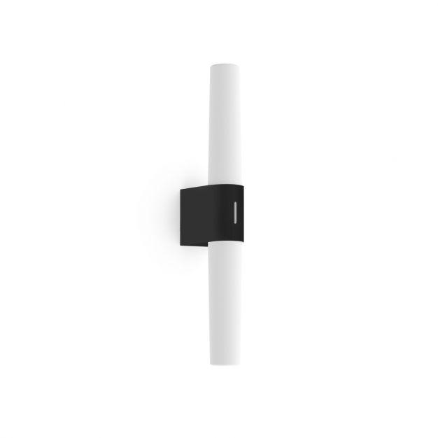 Nordlux Helva Double Basic - wandverlichting - 10,6 x 5,7 x 42,5 cm - 9W LED incl. - IP44 - zwart