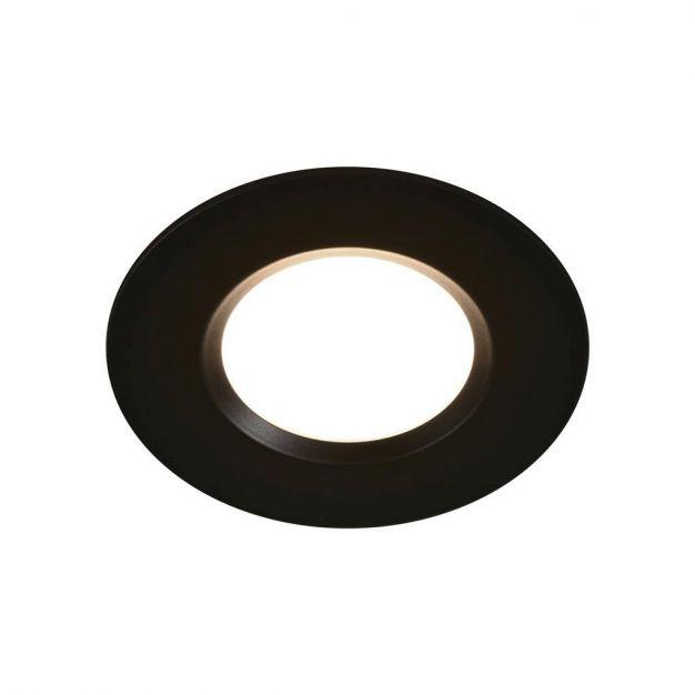 Nordlux Mahi 1-Kit - inbouwspot - 45 mm - 8,5W LED incl. - IP65 - zwart