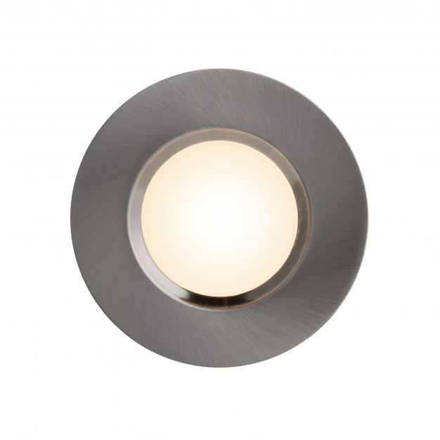 Nordlux Mahi 1-Kit - inbouwspot - 45 mm - 8,5W LED incl. - IP65 - geborsteld nikkel