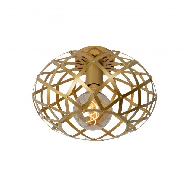 Lucide Wolfram - plafondverlichting - Ø 30 x 20 cm - mat goud