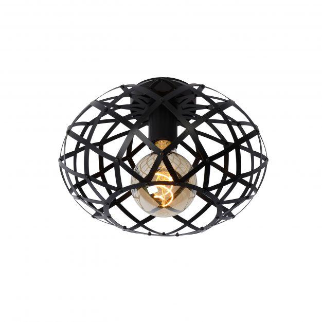 Lucide Wolfram - plafondverlichting - Ø 30 x 20 cm - zwart