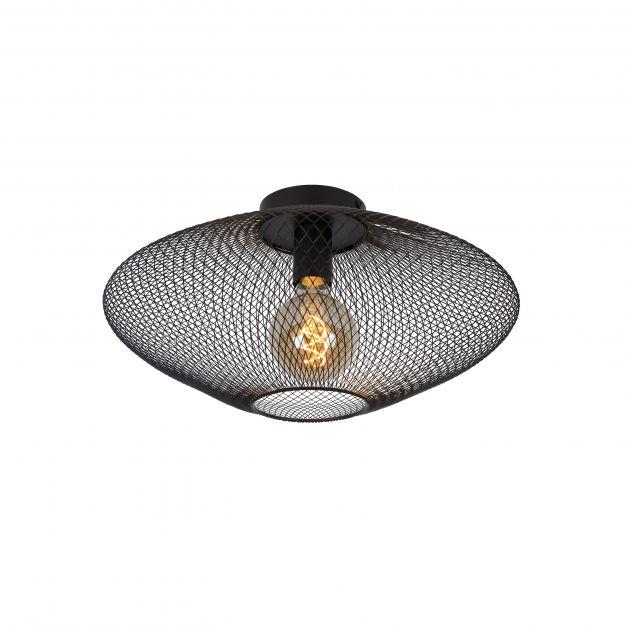 Lucide Mesh - plafondverlichting - Ø 45 x 24 cm - zwart