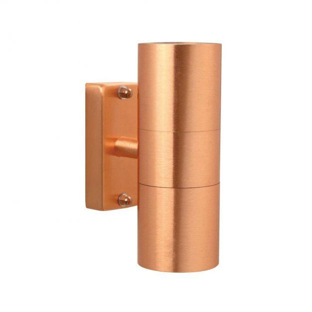Nordlux Tin - buiten wandverlichting - 6,2 x 17 x 11 cm - IP54 - koper