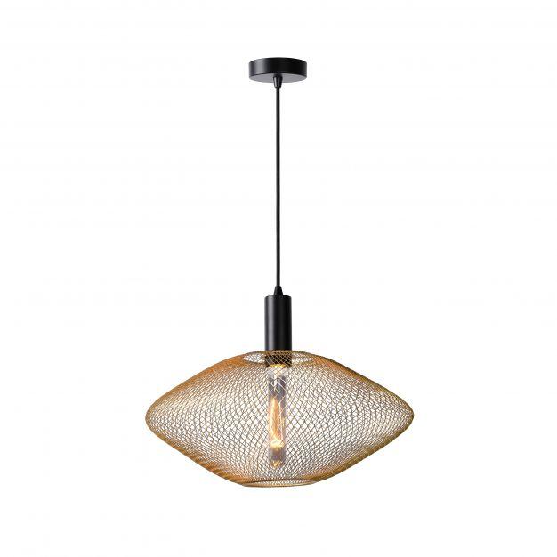 Lucide Mesh - hanglamp - Ø 45 x 135 cm - mat goud