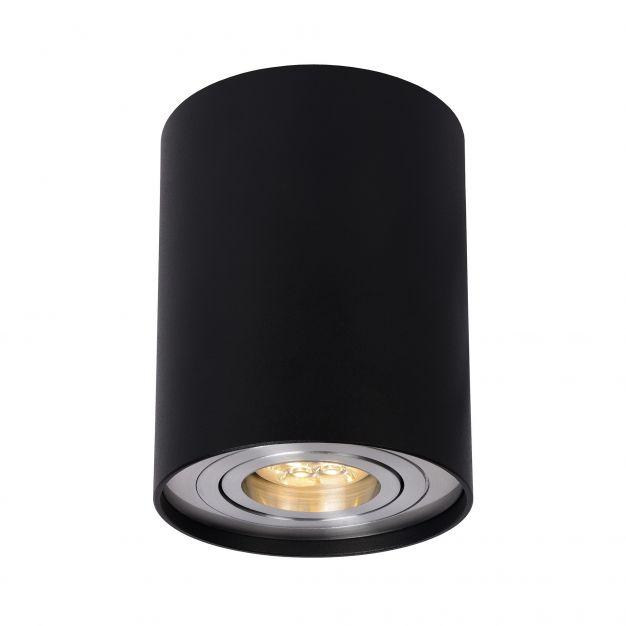 Lucide Tube - opbouwspot 1L - Ø 9 x 12 cm - zwart