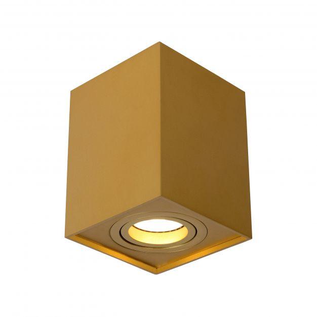 Lucide Tube - opbouwspot 1L - 9,6 x 9,6 x 12,5 cm - mat goud