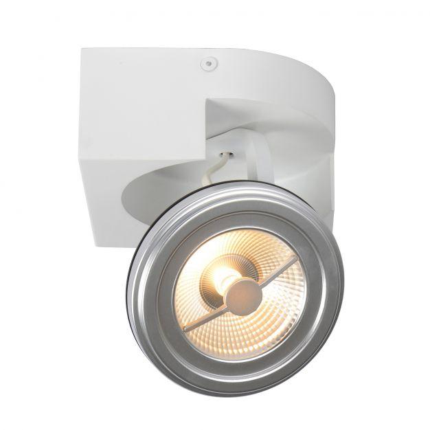 Lucide Versum AR111 - opbouwspot 1L - 15 x 15 x 11 cm - 10W dimbare LED incl. - wit