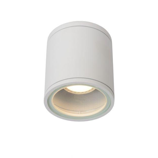 Lucide Aven - opbouwspot - Ø 9 x 10 cm - IP65 - wit