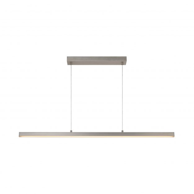 Lucide Sigma - hanglamp - 118,5 x 2 x 150 cm - 30W dimbare LED incl. - mat chroom
