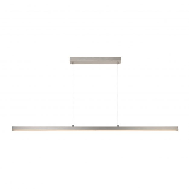 Lucide Sigma - hanglamp - 147,7 x 2 x 150 cm - 33W dimbare LED incl. - mat chroom