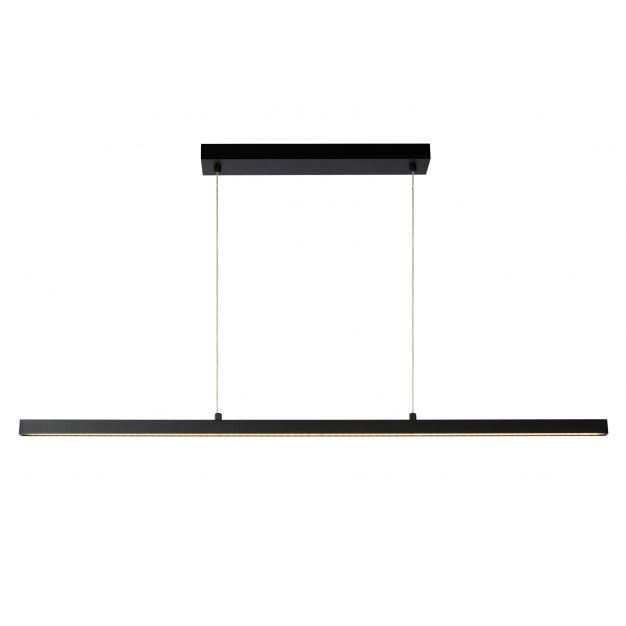 Lucide Sigma - hanglamp - 2 x 118,5 x 150 cm - 30W dimbare LED incl. - zwart