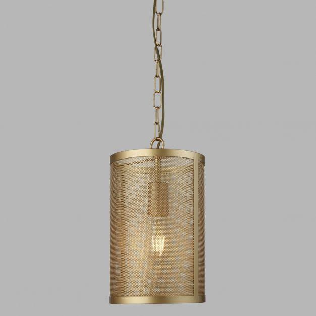 Searchlight Fishnet - hanglamp - Ø 20 x 150 cm - mat goud