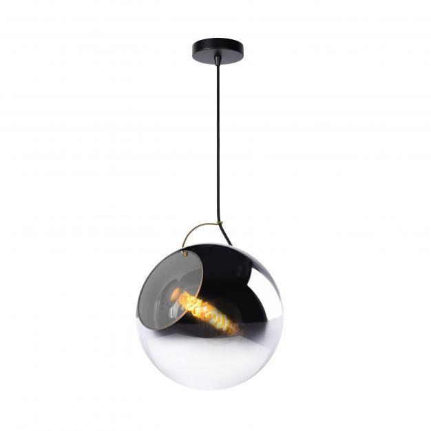 Lucide Jazzlynn - hanglamp - Ø 30 x 160 cm - rookgrijs en zwart