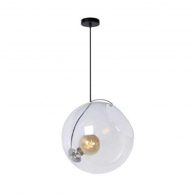Lucide Jazzlynn - hanglamp - Ø 40 x 170 cm - zwart en transparant