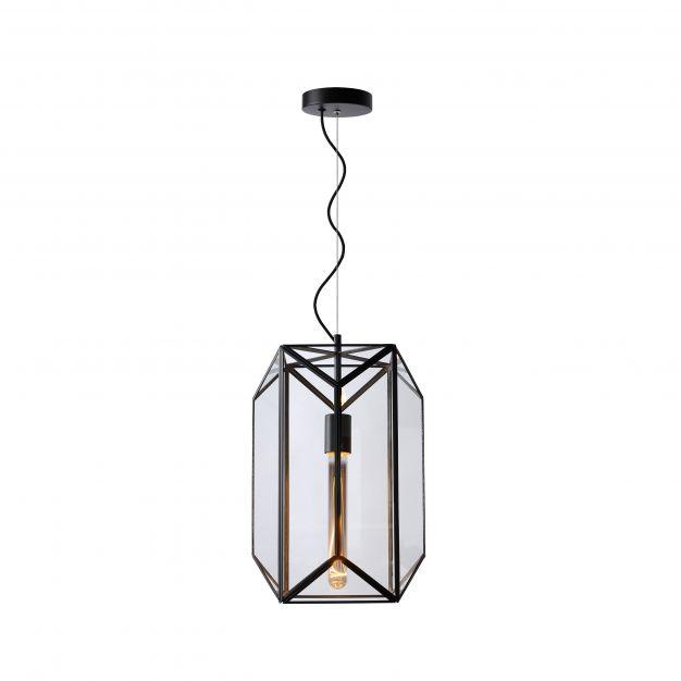 Lucide Fern - hanglamp - Ø 28 x 165 cm - zwart
