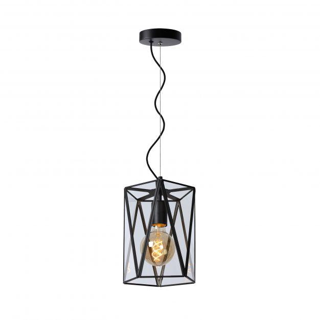Lucide Fern - hanglamp - Ø 20 x 150 cm - zwart