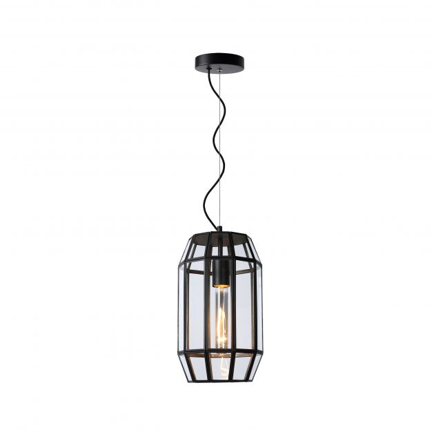 Lucide Fern - hanglamp - Ø 20 x 160 cm - zwart