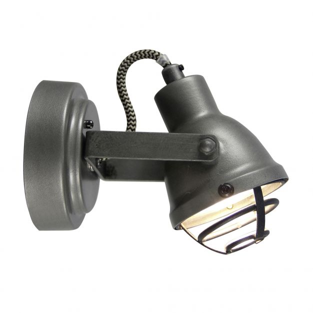 Brilliant Bente - opbouwspot 1L - 8 cm - 4W LED incl. - gebrand staal