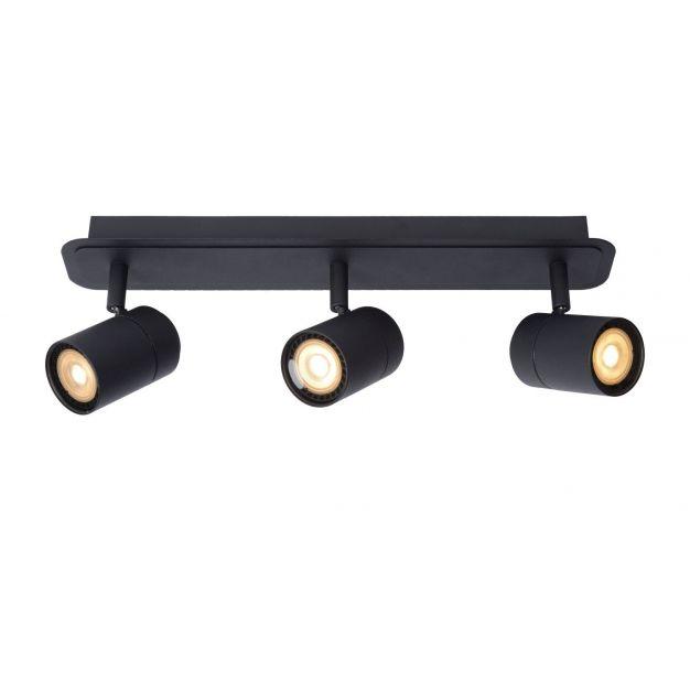 Lucide Lennert - opbouwspot 3L - 40 x 7 x 12,5 cm - 3 x 5W dimbare LED incl. - IP44 - zwart