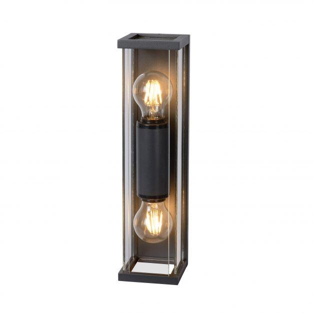 Lucide Claire Mini - buiten wandverlichting - 11 x 36 x 9 cm - IP54 - antraciet