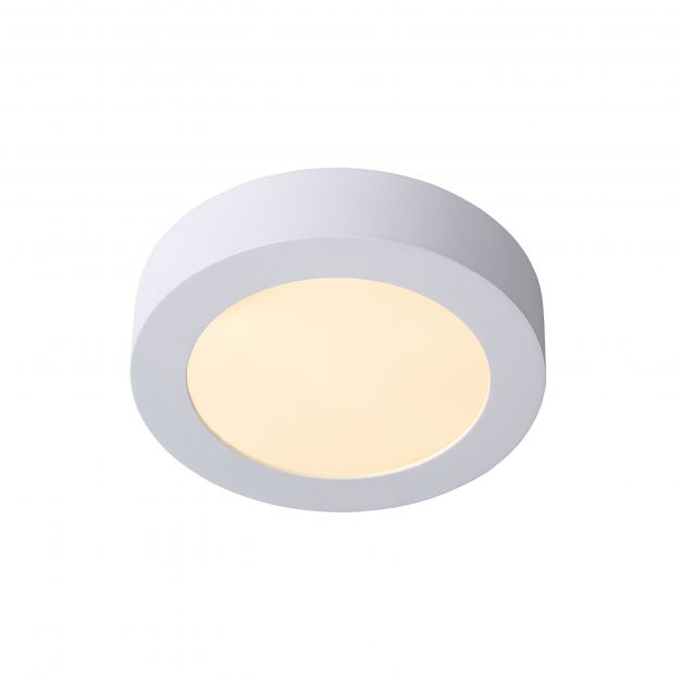 Lucide Brice-Led - plafondverlichting - Ø 18 x 3,9 cm - 11W dimbare LED incl. - IP44 - wit