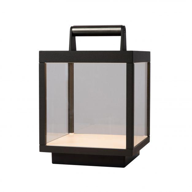 Lucide Clairette - buiten tafellamp - 18 x 18 x 27 cm - 5W LED incl. - IP54 - antraciet