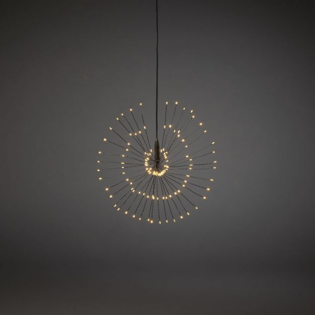 Konstsmide - decoratieve micro LED bol - Ø 25 x 500 cm - amber en zwart