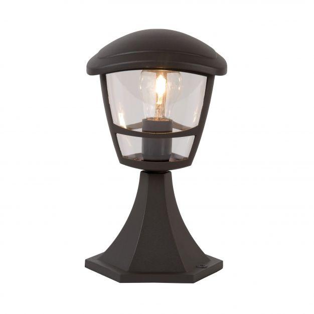 Lucide Istro - buiten sokkelverlichting - 17 x 17 x 30 cm - IP44 - zwart