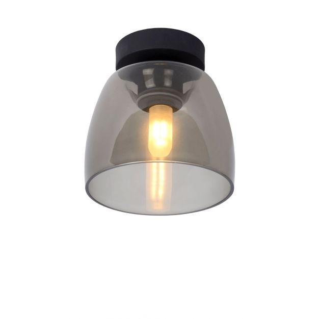 Lucide Tyler - plafondverlichting - Ø 16,1 x 16,8 cm - fumé zwart