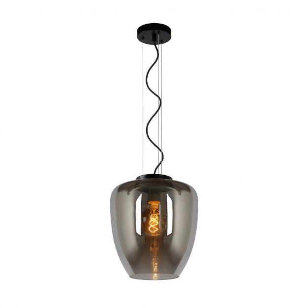 Lucide Florien - hanglamp - Ø 28 x 161 cm - fumé