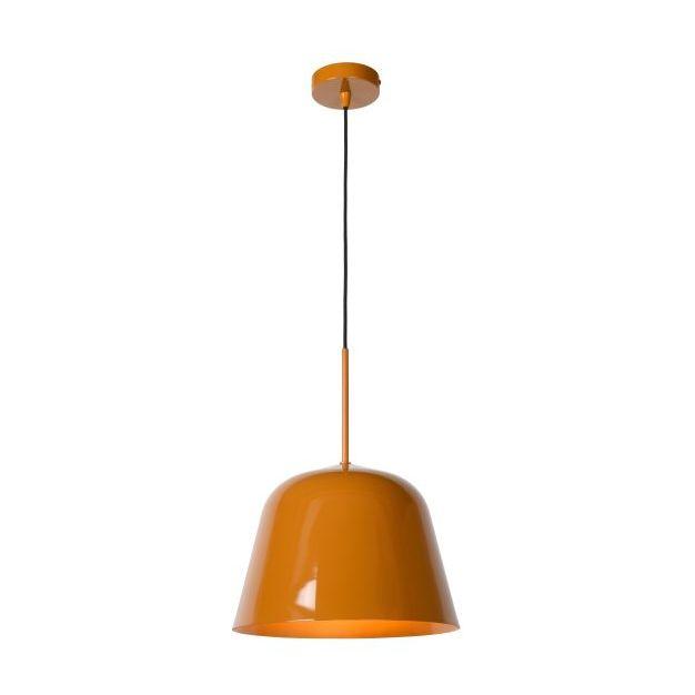 Lucide Misha - hanglamp - Ø 31 x 153 cm - okergeel