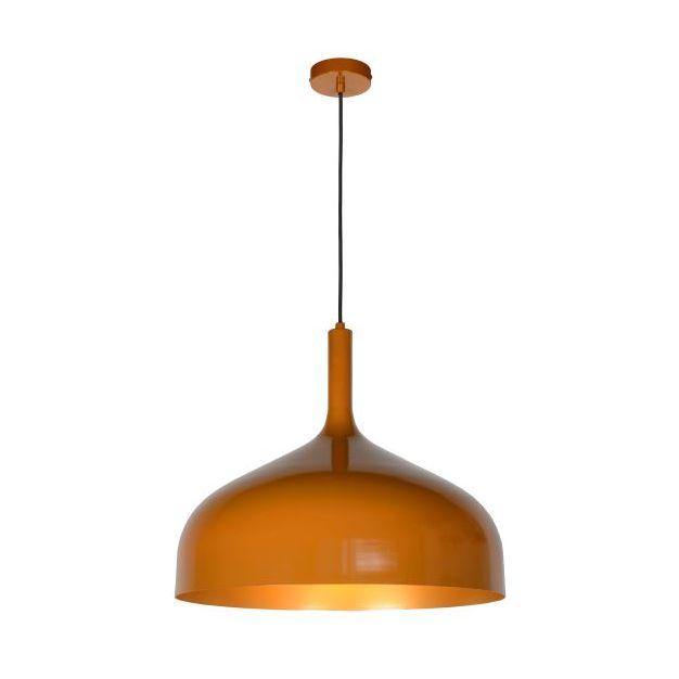 Lucide Rozalla - hanglamp - Ø 50 x 172 cm - okergeel