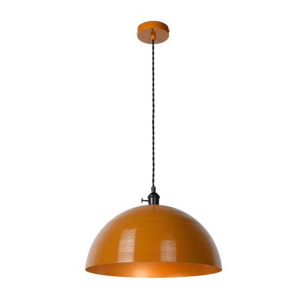 Lucide Marne - hanglamp - Ø 40 x 150 cm - okergeel