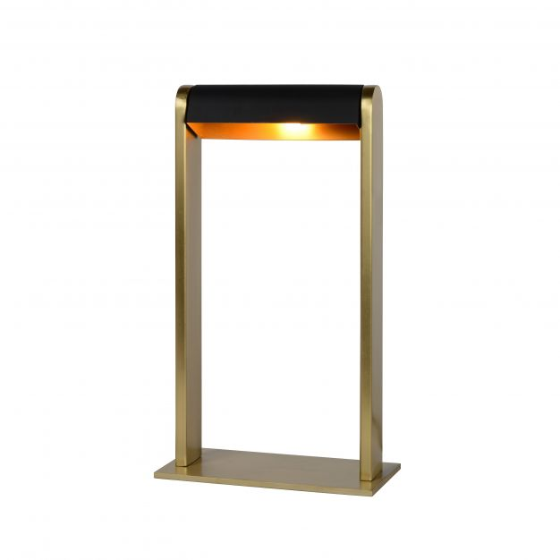 Lucide Loras - tafellamp - 18 x 9 x 32,5 cm - mat goud en zwart