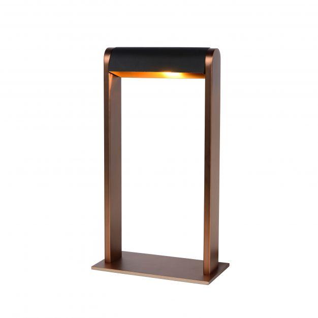 Lucide Loras - tafellamp - 18 x 9 x 32,5 cm - koffie en zwart