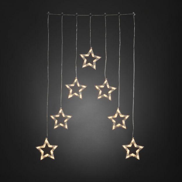 Konstsmide kerstverlichting - decoratieve sterren - 72 x 1,2 x 118 cm - IP44 - transparant