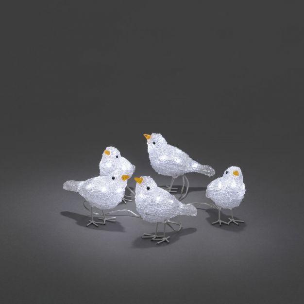 Konstsmide kerstverlichting - decoratieve vogelset (5 stuks) - 16 x 400 x 11,5 cm - IP44 - transparant