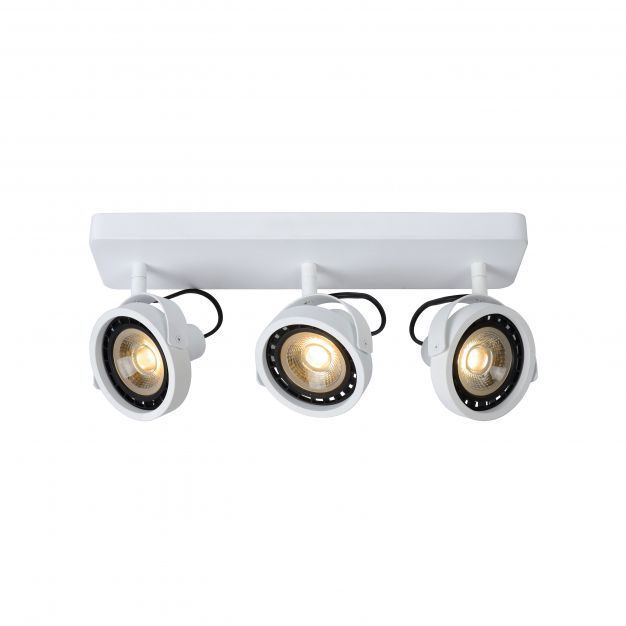 Lucide Tala LED - opbouwspot 3L - 45 x 12 x 20 cm - 3 x 12W dimbare LED incl. - wit