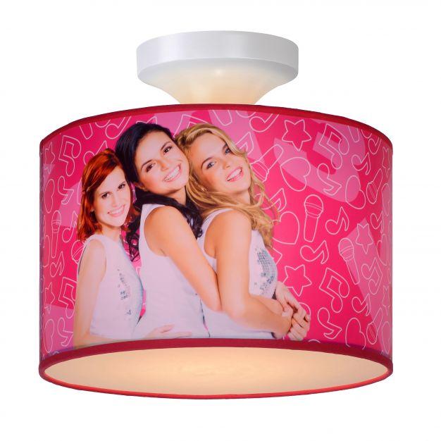 Lucide K3 - kinderkamer plafondverlichting - Ø 30 x 20 cm - roze