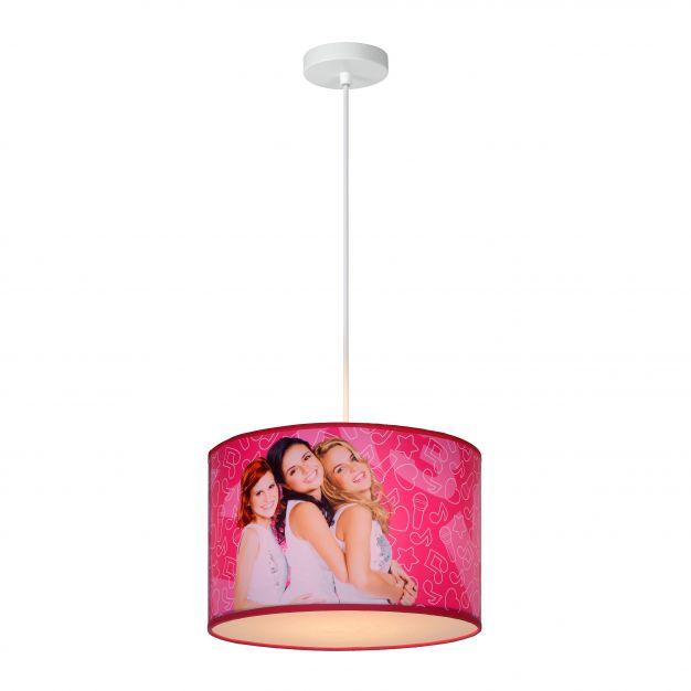 Lucide K3 - kinder hanglamp - Ø 30 x 20 cm - roze
