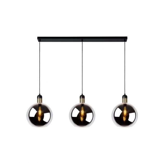 Lucide Julius - hanglamp - 105 x 28 x 150 cm - rook grijs
