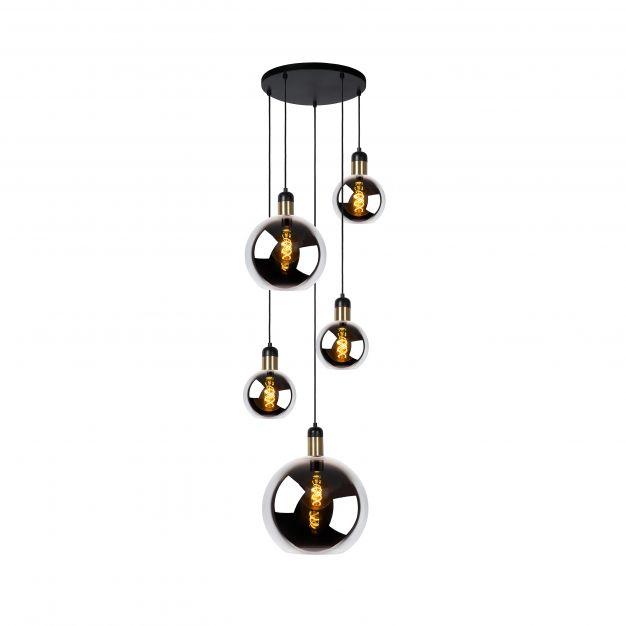 Lucide Julius - hanglamp - Ø 65 x 200 cm - rook grijs
