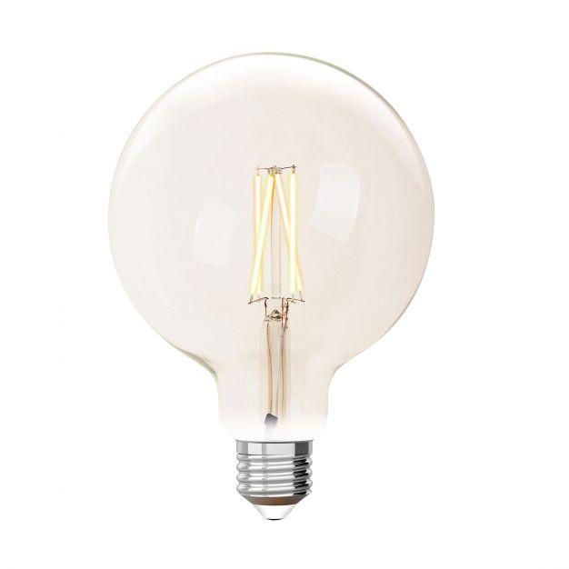 iDual LED-lamp zonder afstandsbediening - Ø 12,5 x 17,5 cm - E27 - 9W dimbaar - 2200K tot 6500K - transparant